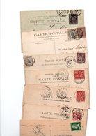 TIMBRE ..TYPE SAGE..MOUCHON..PASTEUR......VOIR DETAIL......LOT DE 48 SUR CPA.....VOIR SCAN......LOT 29 - 1898-1900 Sage (Type III)
