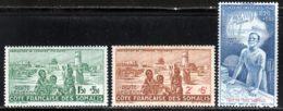 Cote Des Somalis PA 1942 Yvert 8 / 10 * TB Charniere(s) - Französich-Somaliküste (1894-1967)