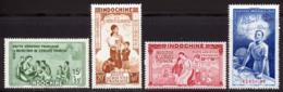 Indochine PA 1942 Yvert 20 / 23 ** TB PEIQI Coin De Feuille - Posta Aerea