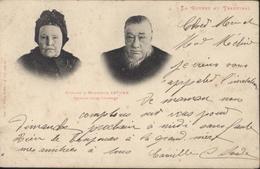 CPA La Guerre Au Transvaal Madame Et Monsieur Kruger Gravure Journal L'Illustration Imp Ad Weick St Dié N°742 YT 129 - Andere Kriege