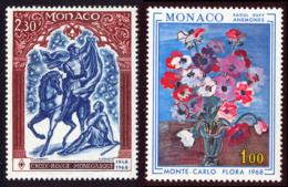 Monaco 1968 Yvert 742 / 743 ** TB - Mónaco
