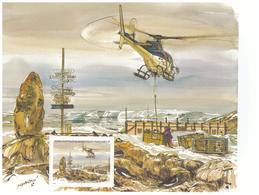 Polaire Antarctique - TAAF 2001 - Feuillet Du Carnet De Voyage 315 ** : Héliportage De Vivres Frais Hélicoptère - Neufs