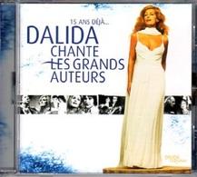 RARE CD DALIDA - 2002 - CHANTE LES GRANDS AUTEURS, GAINSBOURG, PIAF, BREL, SARDOU, ECT....- ETAT NEUF-LIVRAISON GRATUITE - Compilations