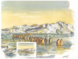 Polaire Antarctique - TAAF 2001 - Feuillet Du Carnet De Voyage 316 ** : Arrivée Des Manchots Empereurs - Unused Stamps
