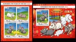 MALDIVES 2019 - Year Of The Rat. M/S + S/S Official Issue [MLD191009] - Astrología