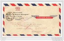 239 - 55 - Lettre Avion Envoyée De Teheran Au Caire 1952 - Iran