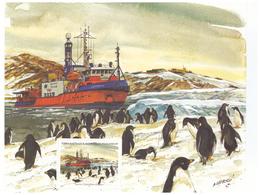 Polaire Antarctique - TAAF 2001 - Feuillet Du Carnet De Voyage 320 ** : Navire L' Astrolabe Au Repos - Unused Stamps