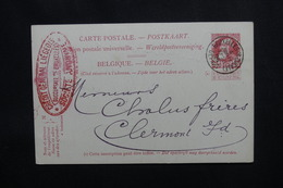 BELGIQUE - Entier Postal De Bruxelles En 1906 Pour La France - L 54126 - Postales [1871-09]