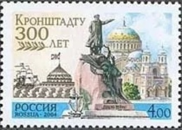 Russia 2004 Kronshtadt 300th Anniv Admiral Makarov Monument Sea Cathedral Architecture Stamp MNH Michel 1154 Scott 6828 - Celebrations