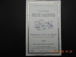 1 Etiquette NEUVE De Vin  Des  PREMIERES COTES DE BLAYE - Bordeaux