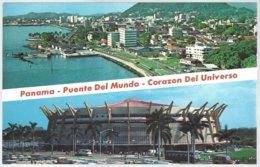 CP Panama, Puente Del Mundo, Corazon Del Universo. 2 View  Unused - Panama