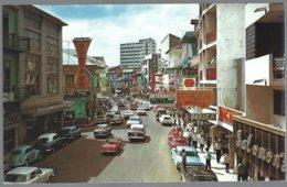 CP  FF-594-Central Avenue  Panama City, Animé,autos époque  . Unused - Panama