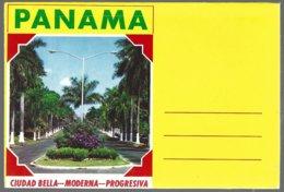 CP Panama, Puente Del Mundo, Corazon Del Universo. Booklet 7 View  Recto/verso. Unused - Panama