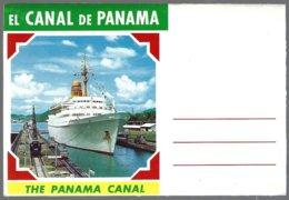 CP The Panama Canal. Booklet 7 View  Recto/verso : Ships,bridge. Unused - Panama