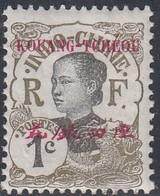 Kwangchowan, Scott #18, Mint Hinged, Annamite Girl Overprinted, Issued 1908 - Kouang-Tcheou (1906-1945)