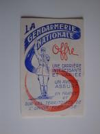 Plaquette Pour La Gendarmerie Nationale. - Publicidad