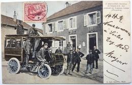 L'AUTOMOBILE OMNIBUS DE SÂALES Á St DIÉ PASSANT AU NOUVEAU SÂALES (FRONTIÈRE) - Frankreich