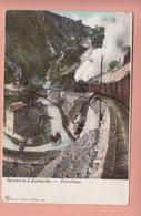 OUDE POSTKAART - ZWITSERLAND - SUISSE -    TREIN - FERROVIA GOTTARDO - BIASCHINA - 1900'S - TI Tessin