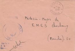 Lettre Franchise OFFICIEL Cachet Marine Nationale + Bureau Naval 81 28/2/1970 - Posta Marittima