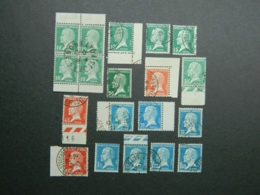 Lot Pasteur Oblitérés - 1922-26 Pasteur