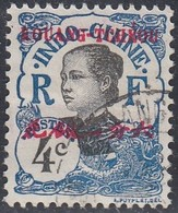 Kwangchowan, Scott #20, Used, Annamite Girl Overprinted, Issued 1908 - Used Stamps