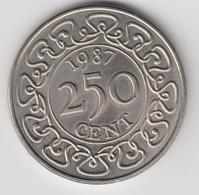 @Y@    Suriname  250 Cent  / Rijksdaalder   1987    (4662) - Surinam 1975 - ...