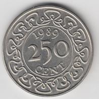 @Y@    Suriname  250 Cent  / Rijksdaalder   1989    (4663) - Surinam 1975 - ...