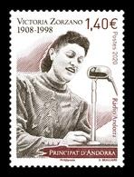 Andorra (FR) 2020 Mih. 861 Radio Announcer Victoria Zorzano MNH ** - Unused Stamps