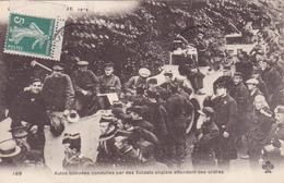 Cpa-milit-croquis De Guerre 1914-auto Blindées Conduites Par Les Soldats Anglais-armored Cars Driven By English Soldiers - War 1914-18