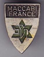 Fédération Française Maccabi France. AB. Insigne De Boutonnière. - Non Classés