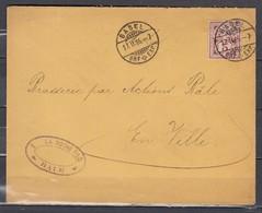 """Mi 52 Sur Lettre """"La Roche Fils"""" De Basel BRP EXP à En Ville - 27 FEV 1895 - 1882-1906 Wappen, Stehende Helvetia & UPU"""