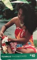 TUVALU  -  Phonecard  $10 - Tuvalu