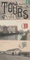 3 CPA:TOURS SUR MARNE (51) LE STAND TIR ESPÉRANCE,MOULIN ET CANAL,SOUVENIR VUES DANS LES LETTRES..ÉCRITES - Other Municipalities