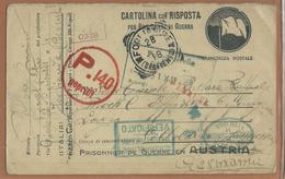FRANCHIGIA DA FOGLIANISE (BN) X BLOCK C OFFIZIER -GEFANGENEN-LAGER CELLE HANNOVER GERMANIA - War 1914-18