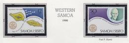 Rotary International 1980 WESTERN SAMOA Pair MNH - Rotary, Lions Club