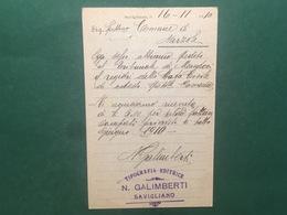 Cartolina Tipografia E Libreria Editrice N. Galimberti - 1910 - Cuneo