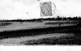 CHALONS SUR MARNE CHAMP DE MANOEUVRES ,EXERCICES INFANTERIE     REF 62883 - Manoeuvres