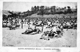 SAINTE -MENEHOULD CIMETIERE MILITAIRE REF 62890 - Cimiteri Militari