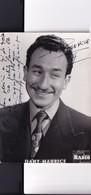 Autographe De Dany Maurice - Carte Postale Photo 1954 -  Producteur Son - Artistes