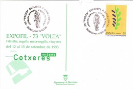 35824. Tarjeta BARCELONA 1993. 73 Volta Ciclista Catalunya. Ciclismo - 1931-Hoy: 2ª República - ... Juan Carlos I