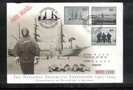 Ross Dependency Antarctica 2004 Centennial Of Discovery Return Interesting Cover - Dépendance De Ross (Nouvelle Zélande)