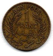 Tunisie  -  1 Franc 1926  --  état  TB+ - Tunisia