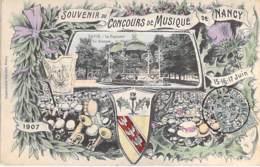 54 - NANCY - CONCOURS De MUSIQUE Juin 1907 - Jolie CPA Colorisée Illustrée ( Lithographie ) - Meurthe Et Moselle - Nancy