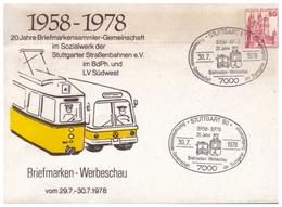 Briefmarken-Werbeschau, 29.7.-30.7.1978, Stuttgart - Eisenbahnen