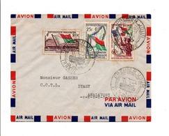 MADAGASCAR AFFRANCHISSEMENT COMPOSE SUR LETTRE FDC 1959 - Madagascar (1960-...)
