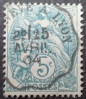 R1631/2205 - TYPE BLANC - N°111 ☉ SUPERBE Cachet CONVOYEUR : GENEVE (SUISSE) à LYON - 25 AVRIL 1904 - 1900-29 Blanc