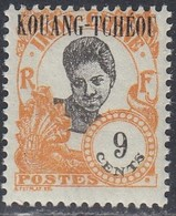 Kwangchowan, Scott #66, Mint Hinged, Cambodian Girl Overprinted, Issued 1923 - Unused Stamps