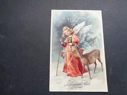 Ange ( 202 )  Engel   - Carte Gaufrée  Reliëf - Anges