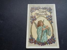 Ange ( 204 )  Engel   - Carte Gaufrée  Reliëf - Anges