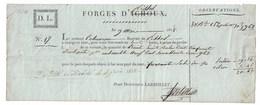 Forges De PISSOS  1816   Bouvier De Pissos  Lettre De Voiture   Pour Bordeaux - Vieux Papiers